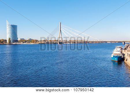 Riga. View of the River Daugava.