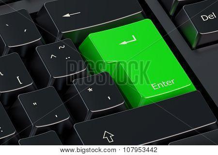 Enter Green Hot Key On  Keyboard