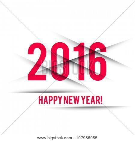 Happy New Year 2016 Vector Design