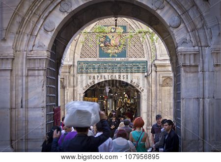 Kapalicarsi Entrance To The Grand Bazaar In Istanbul