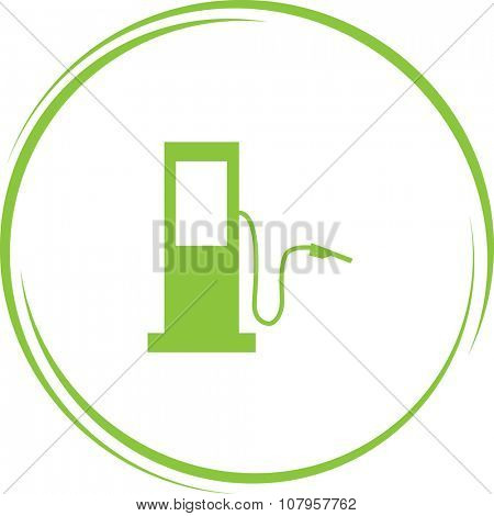 fueling station. Internet button. Vector icon.