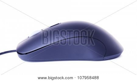 Computer mouse with cord isolated on white background