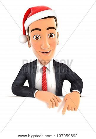 3d businessman christmas