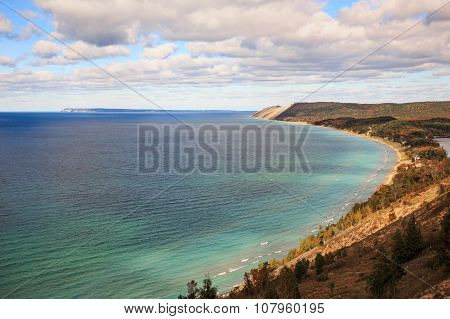 Sleeping Bear Dunes And South Manitou Island, Empire Michigan