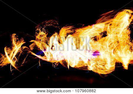 Abstract Drawing Burning Man