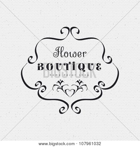 Flower Boutique insignia  and labels for any use