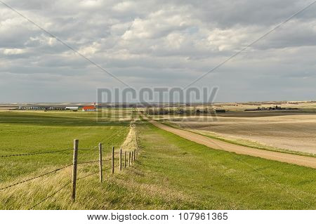 Small Village Of Canadian Prairies