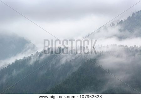 Cloudy day in mountains