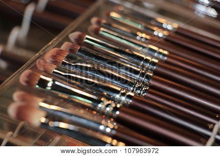 Set Of Makeup Brushes - Close Up