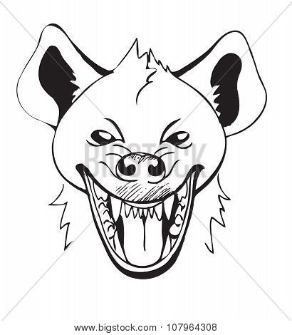 head laughing hyenas
