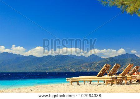 Summertime at the beach.  ocean. sky. water