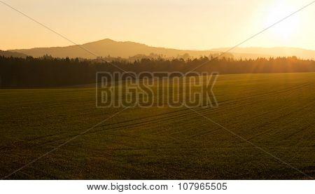 Autumn Morning Landscape. Sunrise