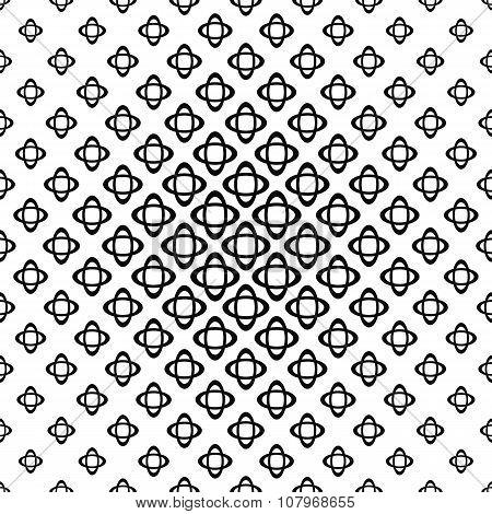 Seamless monochrome double ellipse pattern