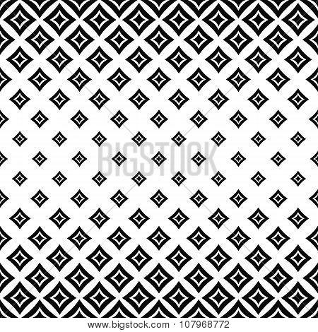Seamless monochrome angular curved square pattern