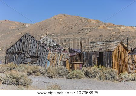 Colorful Ruins Of Ghost Town Home