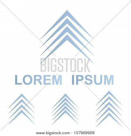 Light blue forward symbol design template set