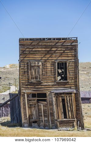 Leaning Building In California Ghost Town