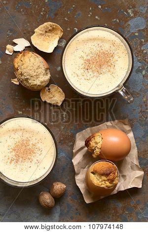 Eggnog Drink and Eggnog Cupcakes