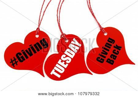 Giving Tuesday Heart Shape Ticket.