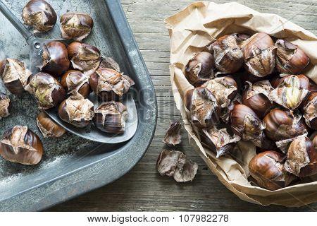 Roast Sweet Chestnuts