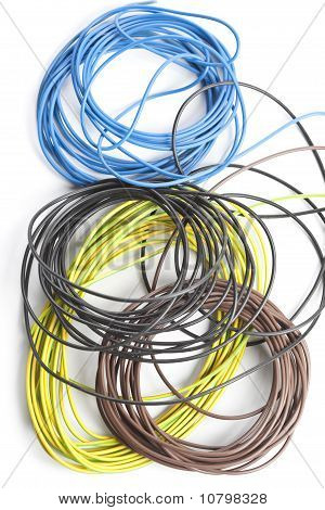 Colorful coils of cables