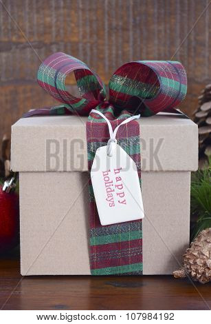 Natural Rustic Christmas Holiday Gift