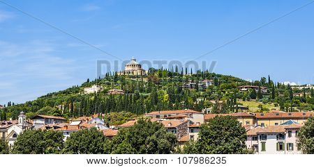 Sanctuary Of The Madonna Of Lourde, Verona, Italy On A Hill