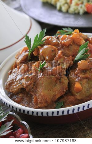 Lamb tagine meal