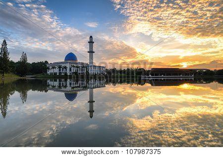 Sunrise At Uniten Mosque