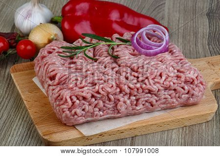 Raw Minced Pork Meat