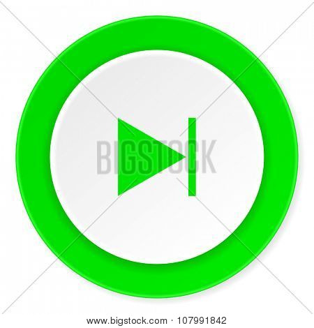 next green fresh circle 3d modern flat design icon on white background