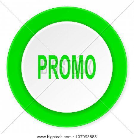 promo green fresh circle 3d modern flat design icon on white background