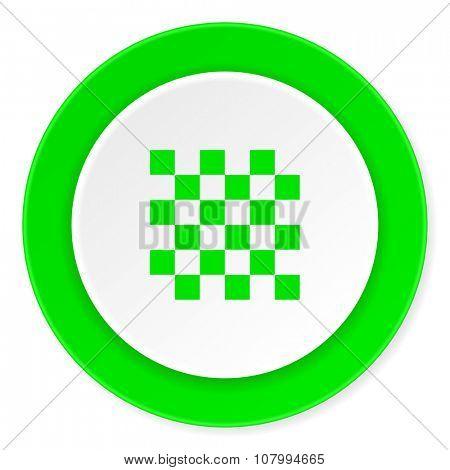 chess green fresh circle 3d modern flat design icon on white background