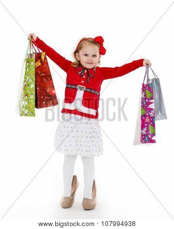 Happy Shopping Girl.