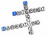 picture of marketing strategy  - 3D Creative Internet Marketing Crossword on white background - JPG