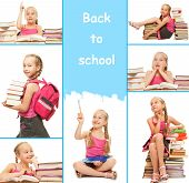 Back to school collage