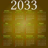 Постер, плакат: Calendar 2033