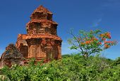 stock photo of champa  - The champa towers new Mui Ne in Vietnam - JPG