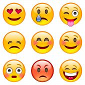 Постер, плакат: Set Of Emoticons