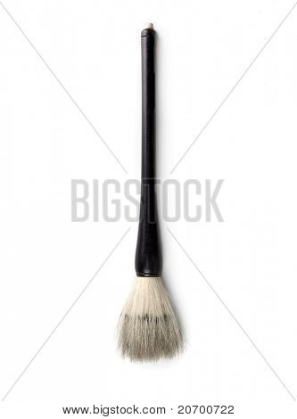 Asian calligraphy brush isolated on white, in real life condition.