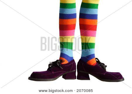 Clown Feet Isolated