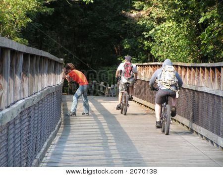 Young Men On The Bike Path