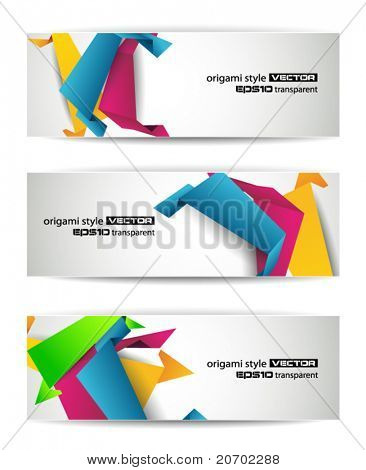 Set of abstract modern header banner for flyer or website