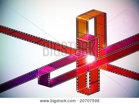 Multicolor Film Stripes