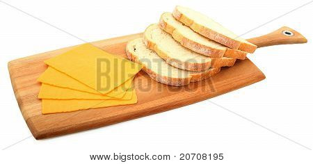 Bread And Cheese On Bread Paddle