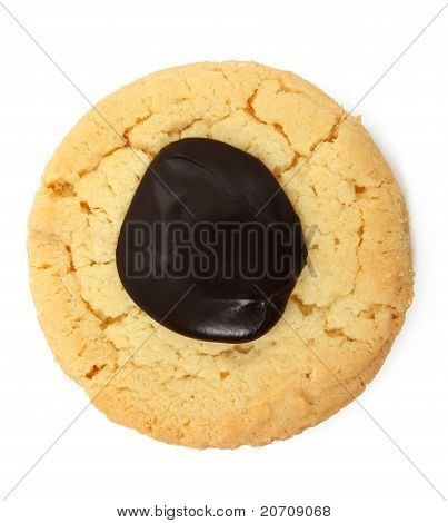 Shortbread Cookie Over White