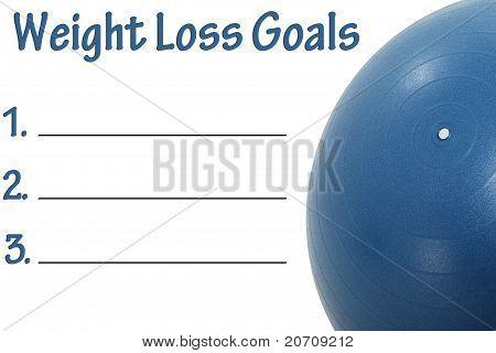 Weight Loss Goals List