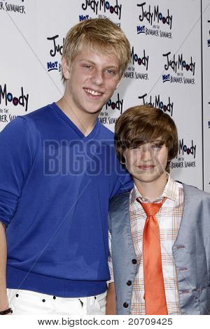 LOS ANGELES - JUN 4:  Jackson Odell, Garrett Ryan arriving at 'Judy Moody And The NOT Bummer Summer' Premiere at ArcLight Hollywood on June 4, 2011 in Los Angeles, CA