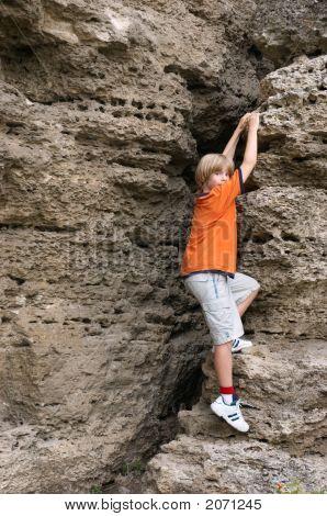 Boy Climbing
