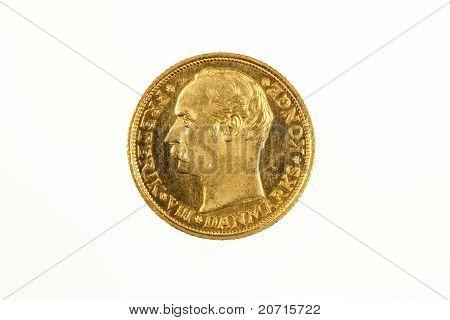 10 Kronor gold coin of Denmark